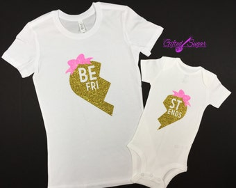 Mommy and Me shirts, Best Friends, Sisters, Mother and Daughter Glitter Tshirt, Long sleeve Available, Valentine's Day,Mother's Day,Birthday
