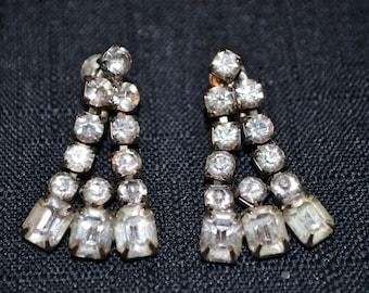 Rhinestone Vintage Coro Rhinestone Earrings