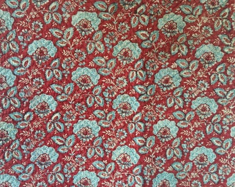 Beautiful Rare 18th C. French Double Sided Cotton Printed Quilt Fabric (2296)