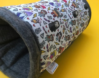 Wizard padded fleece tunnel. Tube. Padded tunnel for hedgehogs, rats and small pets. Small pet cosy tunnel.