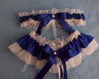 Quelque chose de bleu - jarretière de mariée ceintures - touiller, mariage mariages, bleu Royal - unique taille & grande taille