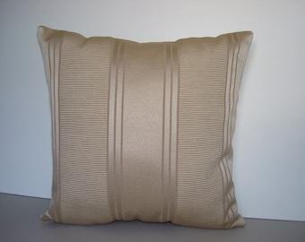 Pillows - Decorative Designer Pillows - Silky Cream Stripes - at reduced pricing