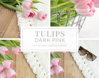 Pink instagram photo bundle |  Tulips stock photo bundle - Summer stock photos - Sunglasses stock photo - Flower stock photography