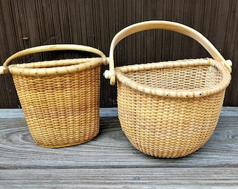 Natucket Style Flat Back Baskets Floral Supply Two Baskets Home Decor