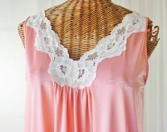 Lorraine Nightgown Floor Length Peachy Pink Open Bust Unworn