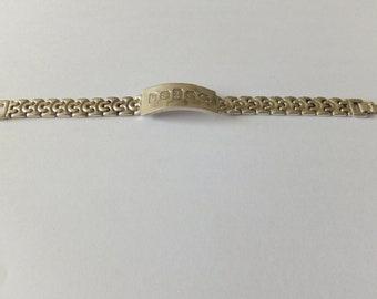 1977 Heavy silver ingot bracelet 52.35g