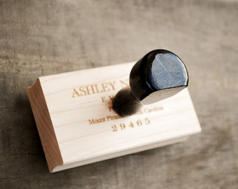 Add Wood Handle to Rubber Stamp, Upgrade Custom Rubberstamp