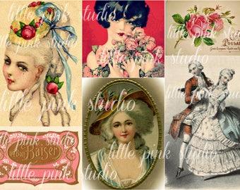Ooh La La,  Printable Collage Sheet (digital download, printable)