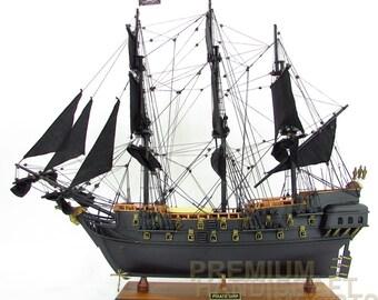 "Free shipping Black Pearl Pirate Ship Model 38"""