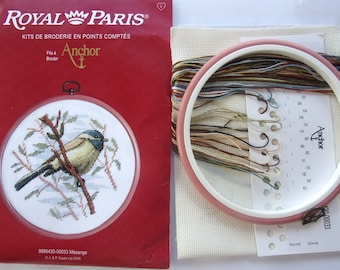 COMPLETE KIT to stitch counted stitches - with frame - bird ref.4821 drum