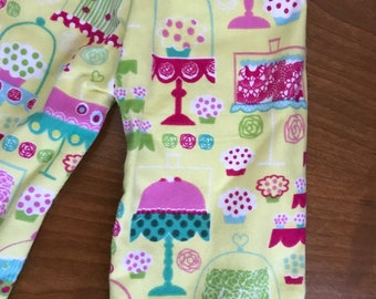 Doll Bakery & Candy PJ pants flannel girl doll pants, Doll clothes 18 inch doll pants, American doll pajama pants, Ready to Ship