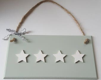 Sage Green Wall Plaque with Choice of Embellishments