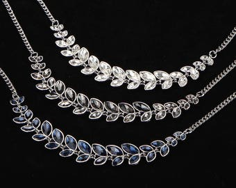 Crystal leaf necklace