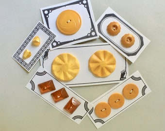 Butterscotch Bakelite Buttons in Assorted Sizes and Styles for Sewing and Knitting