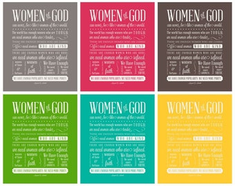 Women of God - Subway Art - Instant Download