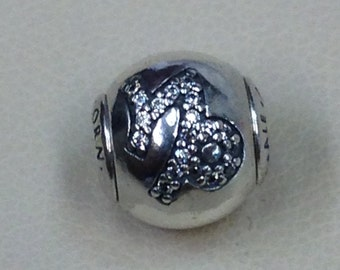 Authentic Pandora Essence Collection Silver Charm Capricorn #796031CZ
