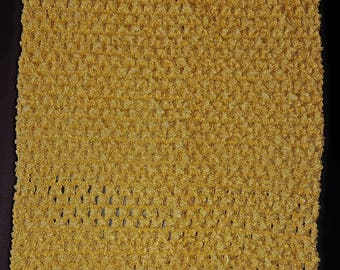 STRAPLESS stretch 2-6 canary yellow crochet to create girl tutu dress