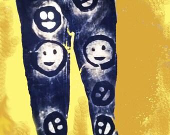 Bindes - black - smiley face - size 8 - super skinny