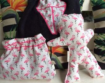 Bib, blanket and bag set