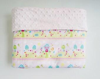 Baby Girl Minky Blanket ~ Home and Birds Blanket ~ Girl's Baby Blanket ~ Lovey Blanket ~ Swaddle Blanket ~  Crib Blanket ~ Baby Shower Gift