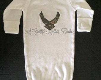 Air Force Baby Gown