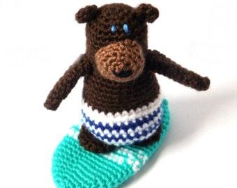 Crochet Bear Pattern - Surfer Amigurumi