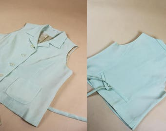 Mint Green Cropped Valerie Vest