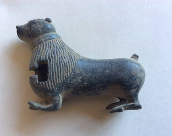 EXTREMELY RARE antique Russian Brass Fur Seal figural lock padlock