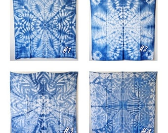 Shibori Indigo Tie Dye,Towel shibori,Blanket Wrap, Swaddle,Swaddle blanket,Beach Cover Up,Pareo,Sarong