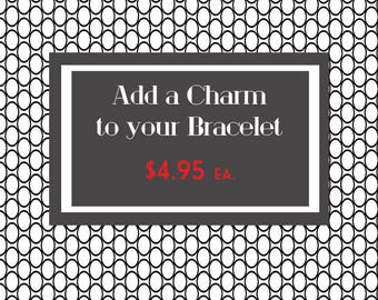 Add a Charm - Charm Bracelet - Bookworm for Her - Reading Charm - Book Lover Charm