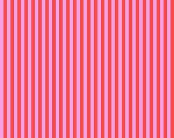 Tula Pink All Stars Fabric, Tent Stripe, PWTP069 Poppy, Free Spirit, 100% Cotton, #FS72
