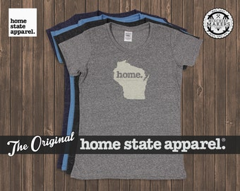 Wisconsin Home. T-shirt- Womens Cut