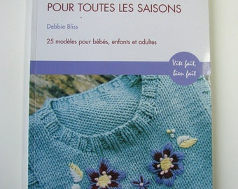 """""""For all seasons cotton knit"""" book of Debbie Bliss Editions Manise, knitting creations."""