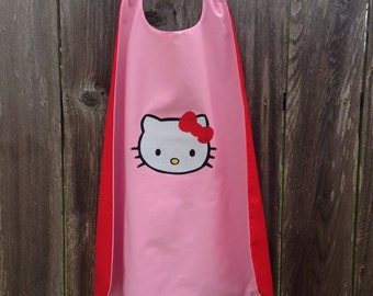 Hello Kitty Cape - Handmade and Reversible