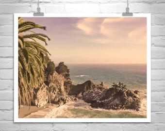 Big Sur Print, Big Sur Photograph, California Coast Art, McWay Falls Photo, Seacoast Art, Pacific Ocean Seascape, California Gift, Beach Art