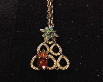 Oh Christmas Tree! pendant from vintage parts