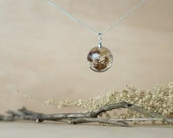 Purple Dried Flower Necklace, Dried Flower Jewelry, Dried Flower Necklace, Botanical Jewelry, Wildflower Necklace, Wildflower Jewelry
