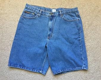 Men's Vintage 90s Calvin Klein Denim Blue Jean Shorts Size 36