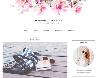 """Blogger Template, Blog Template - """"Marion 