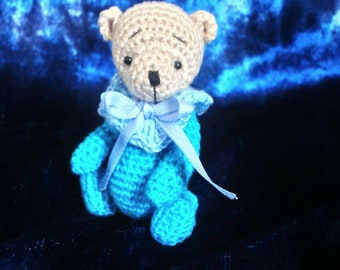 Miniature Thread Crochet Artist Bear