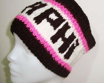 Gamma phi Personalized graduation gifts headband head band hand knit knitted