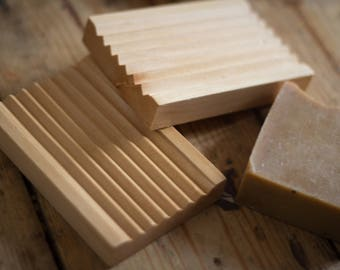 Wooden Soap Dish | Sustainable Hemu Wood | Draining and Eco-Friendly