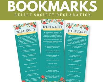 LDS Relief Society Bookmarks