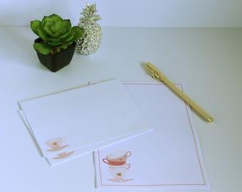 Teetasse Briefpapierset - ungefüttert