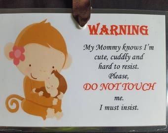 Mama Monkey Warning Sign