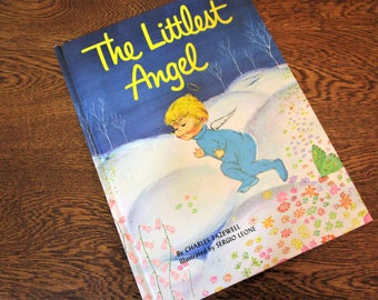 The Littlest Angel - Charles Tazewell - Illustrated by Sergio Leone - Copyright 1962 - Childrens Press - Christmas - Children's Story Book