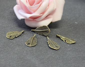 10 charms bronze 19 x 9 mm BRB98 metal pen