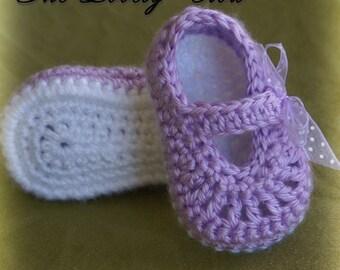 Maryjanes Crochet Pattern Maryjanes for BABY RIBBON MARYJANES digital