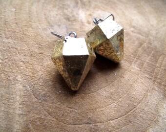 Earrings diamond concrete concrete Jewelry Diamond sheet metal