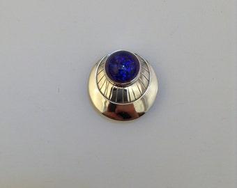 sterling silver Dragon's Breath opal pendant